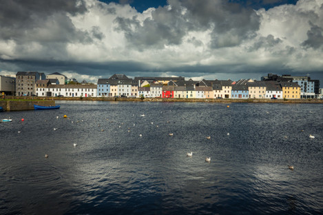 Clouds over Galway in August.