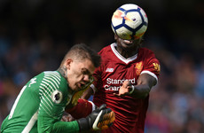 Man City stopper Ederson 'fine' after taking boot to the face from Mane