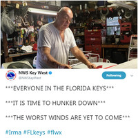 'We may be sorry, I hope we're not': Meet the people riding out Hurricane Irma at home