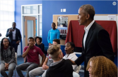 Barack Obama completely surprised a group of high school students by walking into their class to join them