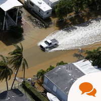 'Hurricanes and flooding show we have to talk about climate change - now'