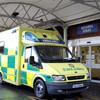 Brick thrown through window of ambulance parked at Dublin hospital
