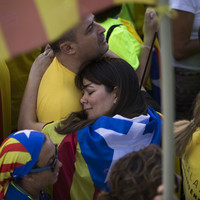 Pictures: Hundreds of thousands of Catalans turn out to say 'Goodbye Spain' ahead of vote