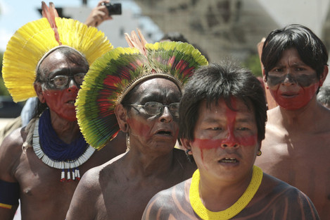 Indigenous leaders gathered in Brasilia in 2012 to ask for the suspension of construction of the hydroelectric plant.