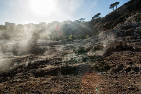 Fumarole is one of forty volcanoes that make up the Burning Fields