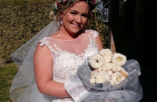 This bride's donut bouquet is the one wedding trend we can actually get behind