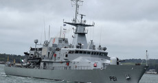 Controversy as Irish naval ship attends world's largest arms fair in London