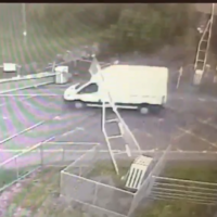 Gardaí hunt for white van driver who ploughed through Galway level crossing