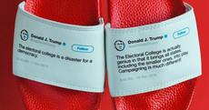 Some genius is making flip flops emblazoned with Donald Trump's contradictory tweets
