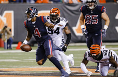 Texans' rookie quarterback lights up Thursday Night Football with this 49-yard TD