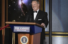 Sean Spicer appears at Emmys to claim it had 'the largest crowd ever. Period.'