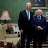 The most adorable figurines were spotted in the background of this photo of Michael D and Joe Biden
