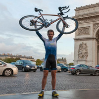 Scottish man cycles around world in 79 days, setting new world record