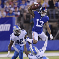 Beckham makes his return but Giants offense struggles as Lions coast to victory