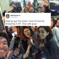 Niall Horan delivered pizza to fans waiting overnight on the street for his LA show