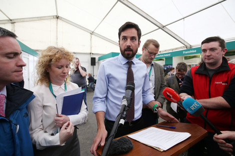 Housing Minister Eoghan Murphy at the National Ploughing Championships in Offaly.