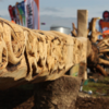 The epic story of the Vikings in Ireland - as depicted on a 23-metre chainsaw-carved tree