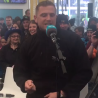 Yeah, Jamie Heaslip actually just rapped 'Hot in Herre' by Nelly at the Ploughing Championships