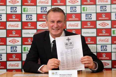 Michael O'Neill reveals his first Northern Ireland squad.
