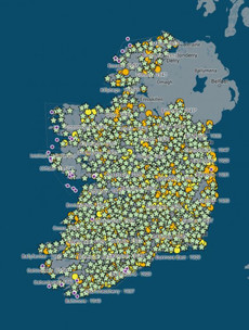 ESB map shows when over 1,300 Irish towns, villages and parishes got electricity