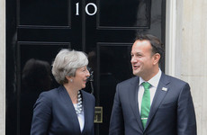 Theresa May has backed Ireland's bid to host the Rugby World Cup