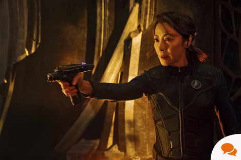 Michelle Yeoh as Captain Philippa Georgiou. Star Trek: Discovery. Photo cr: Jan Thijs © 2017 CBS Interactive. All Rights Reserved.
