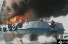 Watch: Dramatic crew rescue from burning boat
