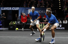 Dream Team: For first time Roger Federer and Rafael Nadal join forces for doubles match