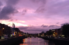 Everyone was talking about the gorgeous purple sky over Dublin last night