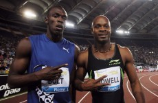 On your marks: Bolt and Powell will race in Rome