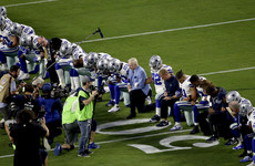 Dallas Cowboys become latest team to take a knee in opposition to Trump