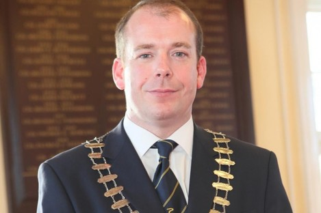 Darren Scully in his former role as Mayor of Naas.