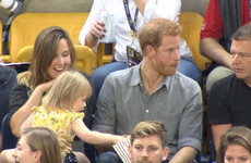 People have fallen in love with this toddler for stealing Prince Harry's popcorn