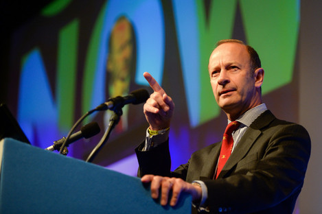 Henry Bolton, who has been elected as the new Ukip party leader, speaks during the Ukip National Conference.