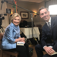 'We practiced him stalking me on the stage': Hillary Clinton takes aim at Trump in Late Late Show interview
