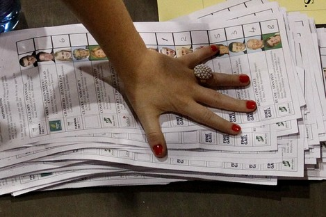 The #GE11 count in Castlebar, Co Mayo on 26 February 2011.