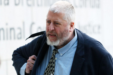 Humphries arriving at the Dublin Central Criminal Court yesterday.