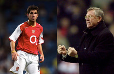 13 years after tunnel bust-up, Cesc Fabregas finally admits to throwing pizza at Fergie's face