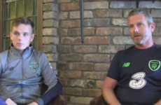 Father and son: Liam Kinsella aiming to reach the heights of ex-Ireland midfielder Mark