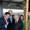 In pictures: President Higgins visits London's Olympic stadium