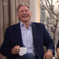 Ryan Gosling and Harrison Ford got awful giddy in this interview with ITV's Alison Hammond