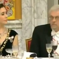Video: Finnish president's husband caught checking out Danish princess's cleavage