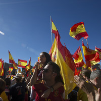 'Rajoy, you wuss. Defend the nation': Thousands protest in Madrid for Spanish unity