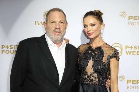 Harvey Weinstein with his wife Georgina Chapman