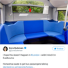 An English bus company is introducing 'horseshoe seats' to encourage passengers to talk to each other