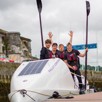 Three Irish doctors and a businessman are rowing across the Atlantic for charity
