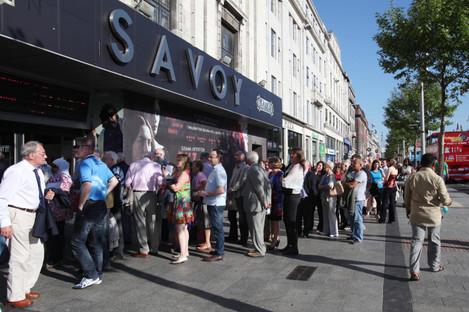 The Savoy Cinema on Dublin's O'Connell Street.