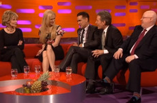 Colin Farrell had to explain the word 'arseholes' to Jane Fonda on Graham Norton last night
