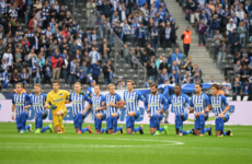 Bundesliga club take a knee in solidarity with American athletes