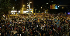 Pictures: Tens of thousands protest through streets of Barcelona